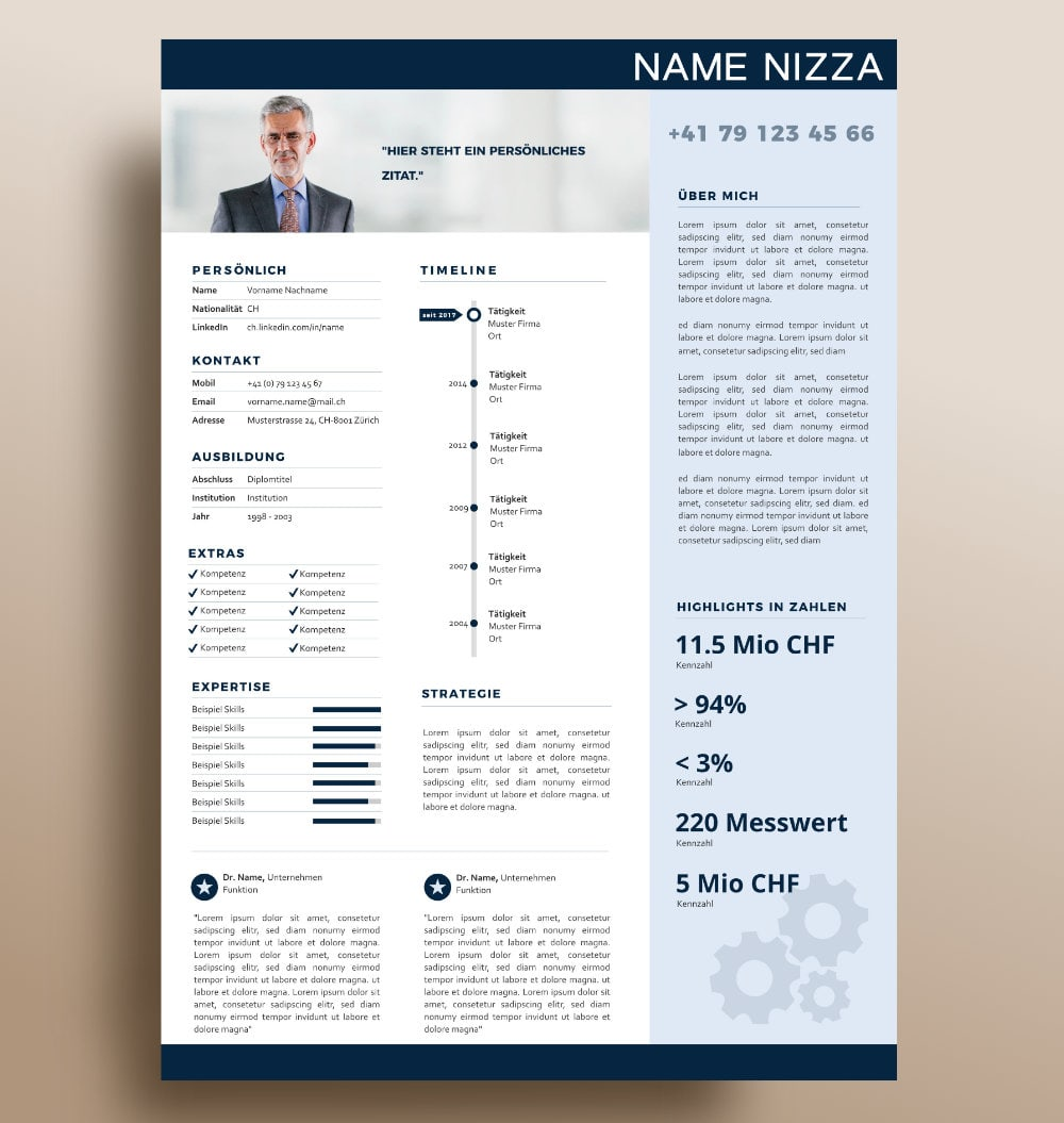 Layout Nizza Onepager