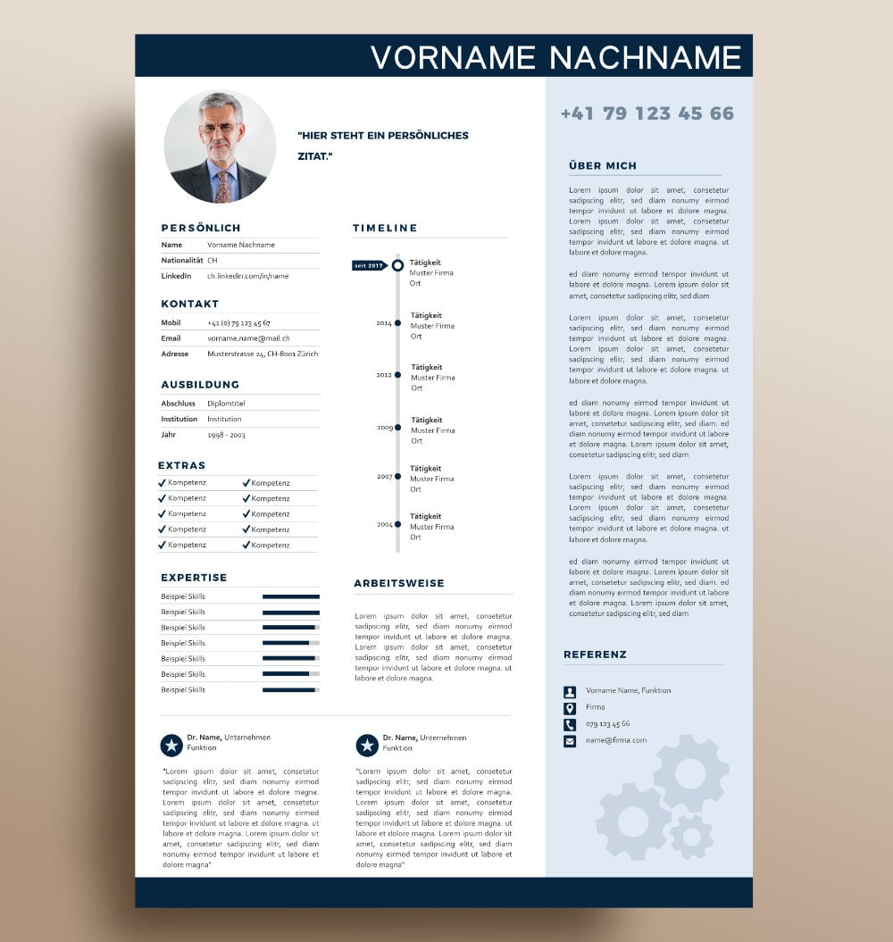 Onepager Layout Premium